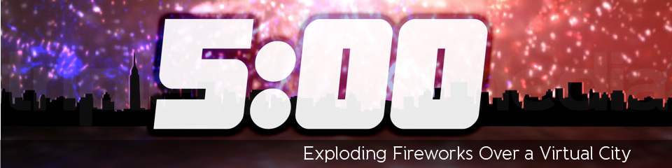 Exploding Fireworks Over a Virtual City   TripleWide Media
