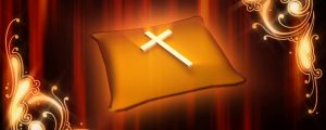 Live Events Stock Media - Cross on Pillow