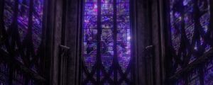Live Events Stock Media - Towering Stained Glass Windows Purple