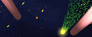 Live Events Stock Media - Shooting Gold Star with Green Particles