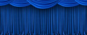 Live Events Stock Media - Blue Theatre Curtain