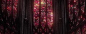 Live Events Stock Media - Towering Stained Glass Windows Red