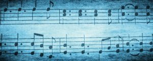 Live Events Stock Media - Blue Textured Music Notes