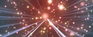 Live Events Stock Media - Galaxy Space Particles with Light Rays