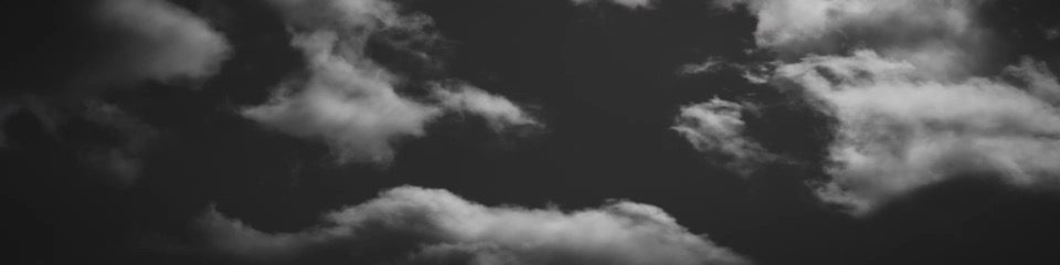 Stock Media - Cine Clouds Flight Black and White