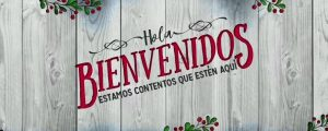 Live Events Stock Media - Wooden Christmas Welcome Spanish