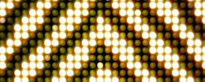 Live Events Stock Media - Golden Yellow Triangle LEDs pattern