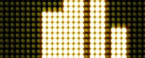 Live Events Stock Media - Golden yellow golden LED Equalizer bars