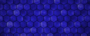 Live Events Stock Media - Blue Hexagon Grid