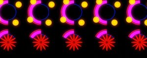 Live Events Stock Media - Neon Burst Wall 2