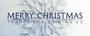 Live Events Stock Media - Frosted Snowflake Merry Christmas