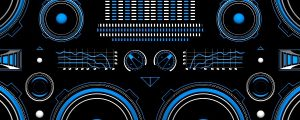 Live Events Stock Media - Blue Boombox