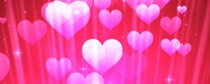 Live Events Stock Media - Pink Particle Hearts With Stars & Rays