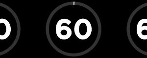 Live Events Stock Media - 60 Second Black & White Countdown