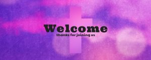 Live Events Stock Media - Watercolor Cross Welcome Still