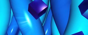 Live Events Stock Media - Falling Blue Cubes & Spinning Blue Tubes