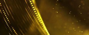 Live Events Stock Media - Golden Yellow Bokeh Strands & Strings