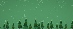 Live Events Stock Media - Snowy Trees Green