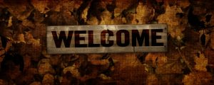 Live Events Stock Media - Burlap Leaves - Welcome