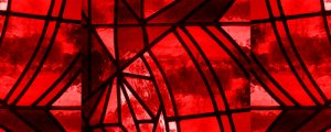 Live Events Stock Media - Stained Glass 2 - Red