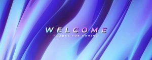 Live Events Stock Media - Color Waves Welcome
