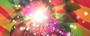 Live Events Stock Media - Rainbow Tunnel with Glowing Particles