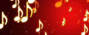 Live Events Stock Media - Glowing Golden Yellow Music Notes