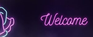 Live Events Stock Media - Neon Prayer Welcome
