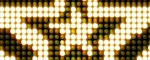 Live Events Stock Media - Golden Yellow LED Stars