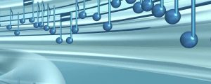 Live Events Stock Media - Blue 3D Spinning Music Notes