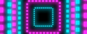 Live Events Stock Media - Blue and Pink Squares