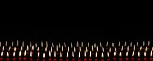 Live Events Stock Media - Rows of Red Candles