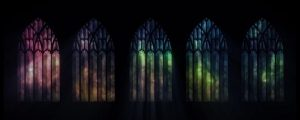 Live Events Stock Media - Rainbow Stained Glass Row