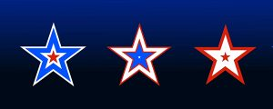 Live Events Stock Media - Red, White and Blue Stars