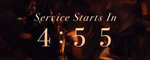 Live Events Stock Media - Sculpted Glass Countdown Service Starts
