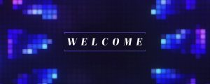 Live Events Stock Media - Pixel Glass Welcome Still