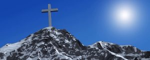 Live Events Stock Media - Cross On Snowy Mountain Top