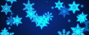 Live Events Stock Media - Glowing ice blue snowflakes & stars