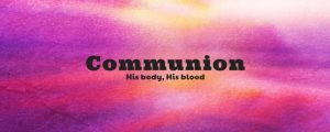 Live Events Stock Media - Watercolor Cross Communion