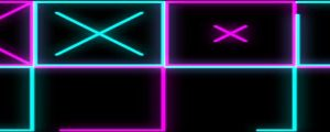 Live Events Stock Media - Glowing blue & pink X grid patterns