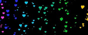 Live Events Stock Media - Falling colored heart particles