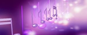 Live Events Stock Media - Pink & Purple 3D Music Notes