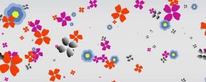 Live Events Stock Media - Retro Flowers Background