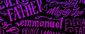Live Events Stock Media - Jesus Christmas Names Pink Purple