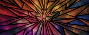 Live Events Stock Media - Rays Stained Glass Rainbow