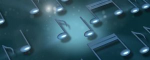 Live Events Stock Media - Rotating Blue 3D Music Notes