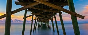 Live Events Stock Media - Bogue Inlet Fishing Pier at Daybreak