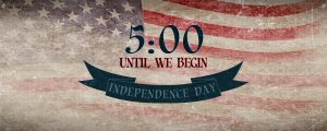 Live Events Stock Media - Vintage Independence Day Countdown
