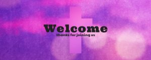 Live Events Stock Media - Watercolor Cross Welcome