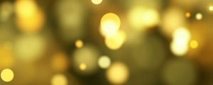 Live Events Stock Media - Glowing Golden Yellow Bokeh Orb Shaped P